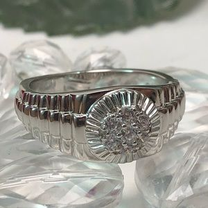 Men sterling silver ring size 11
